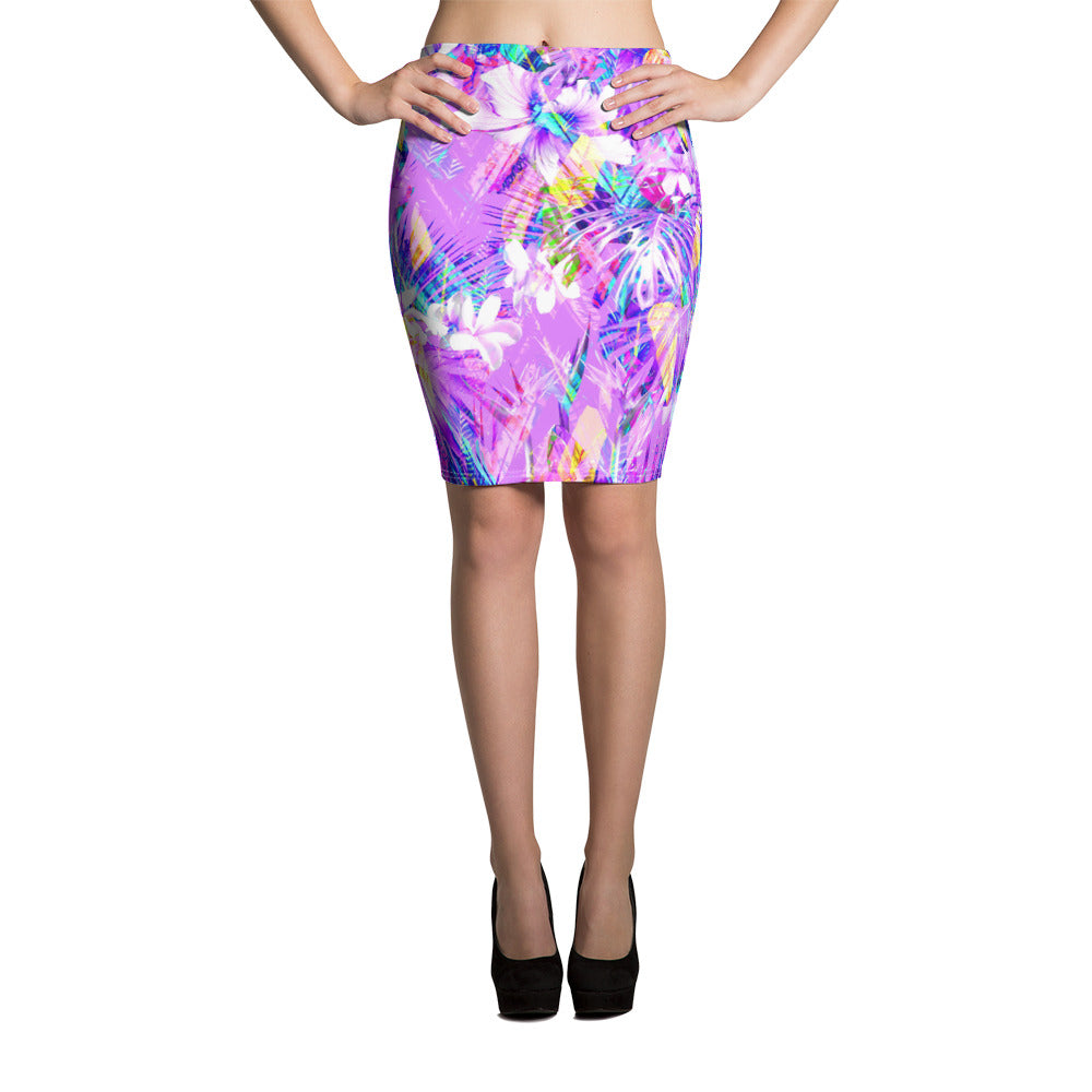 Energetic Indigo Pencil Skirt - ZBAZAAR