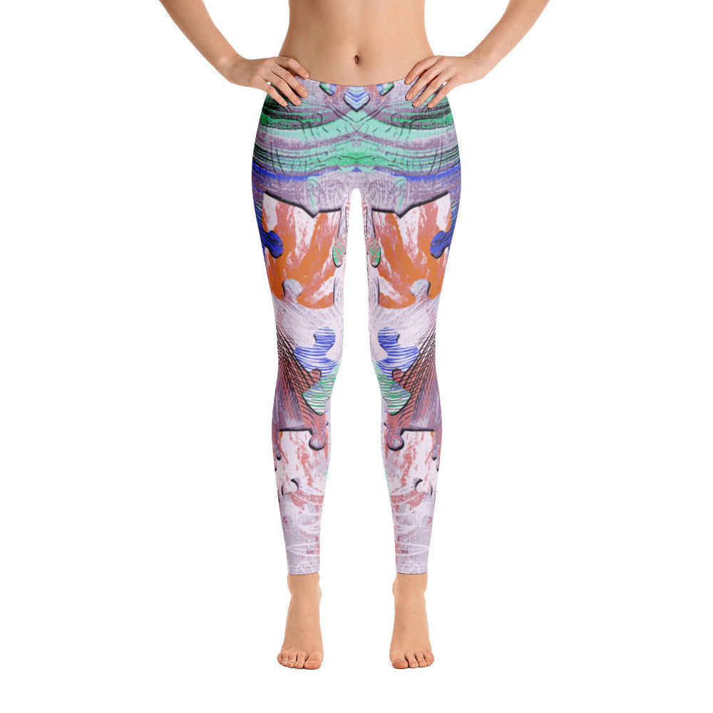 Colorful Puzzle All-Over Legging - ZBAZAAR