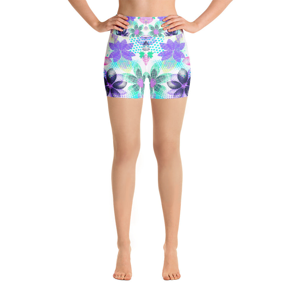 Dream Flowers Yoga Short - ZBAZAAR
