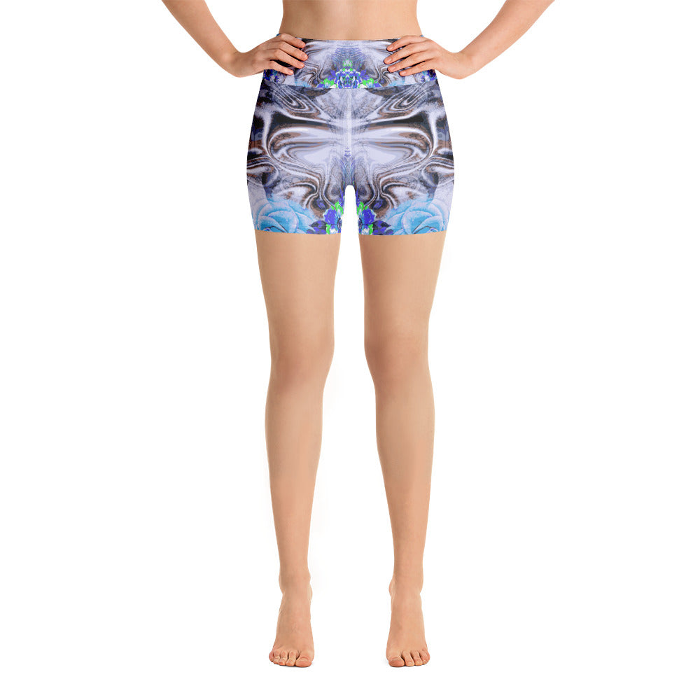 Blue Mist Yoga Short - ZBAZAAR