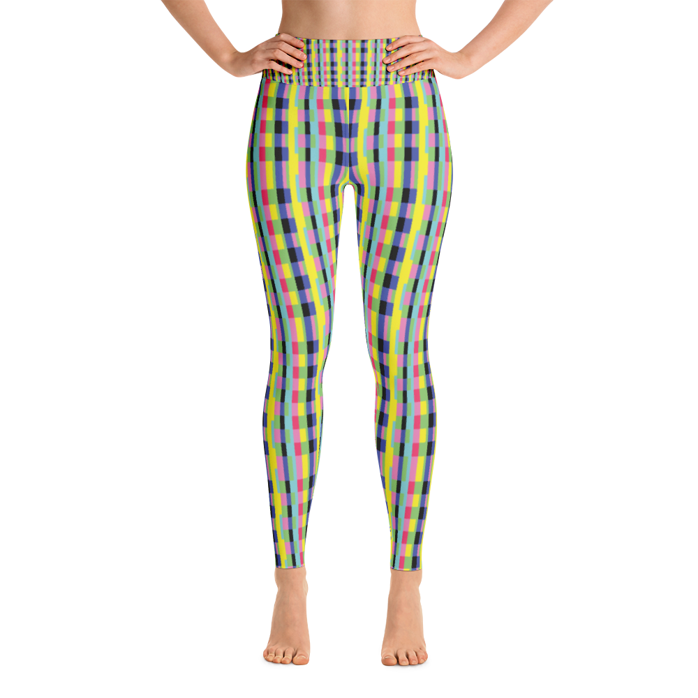 Yoga Leggings / Rainbow Blocks - ZBAZAAR