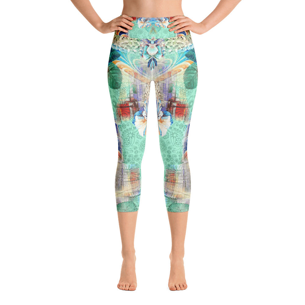 Flower of the Angel Yoga Capri Legging - ZBAZAAR