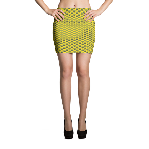 Mini Skirt / Yellow Honeycom - ZBAZAAR