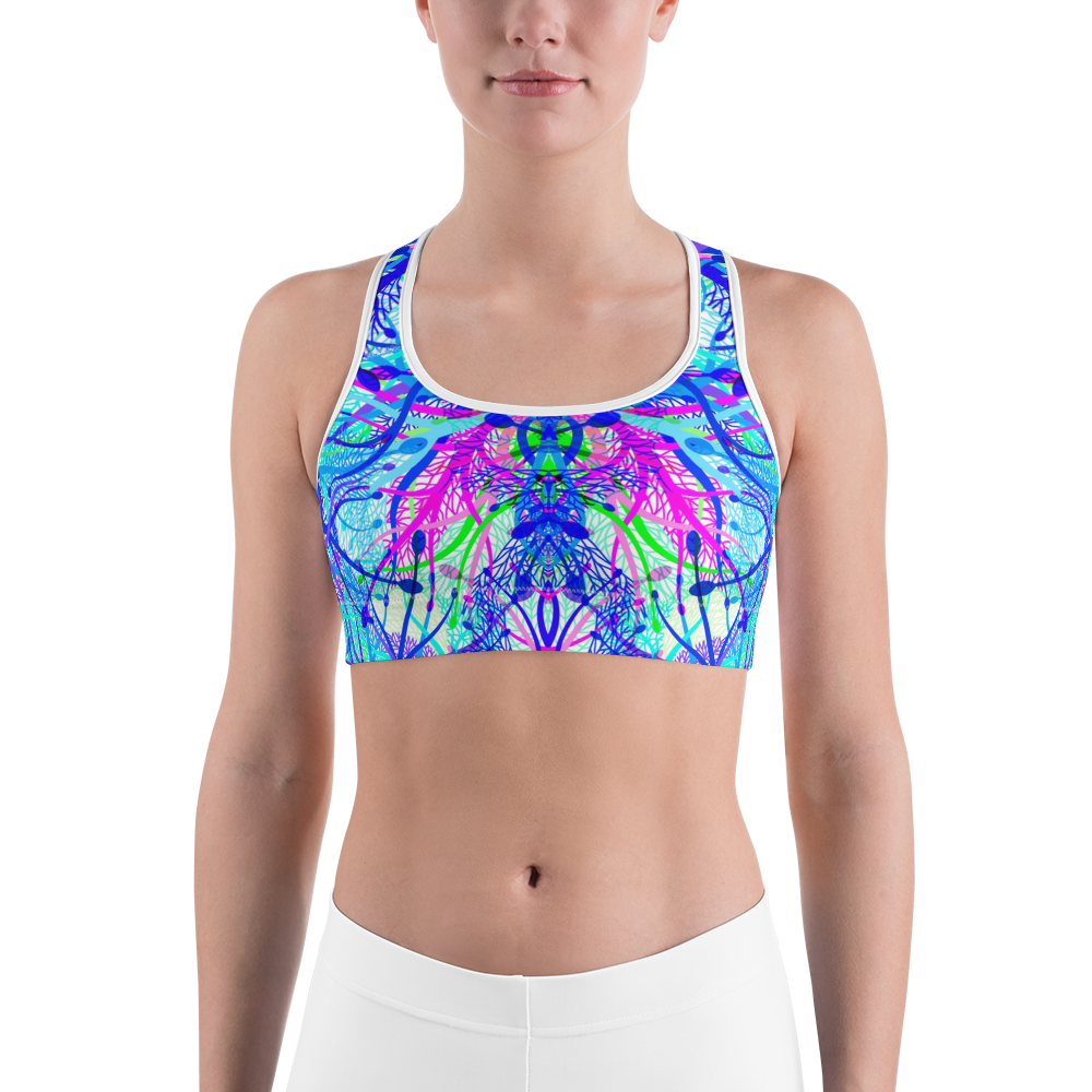 Blue Net Sports bra - ZBAZAAR