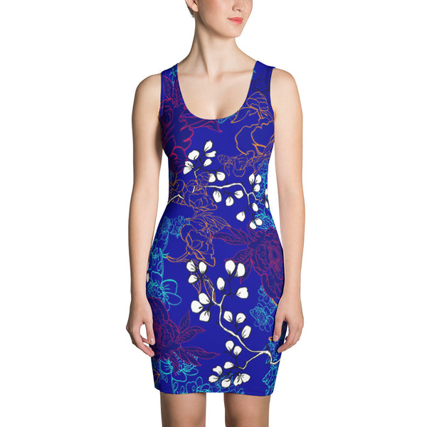 Blue Spring Sublimation Cut & Sew Dress - ZBAZAAR