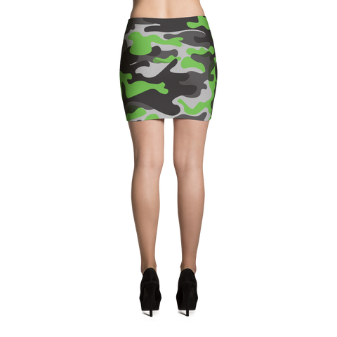 Mini Skirt / Green Camo