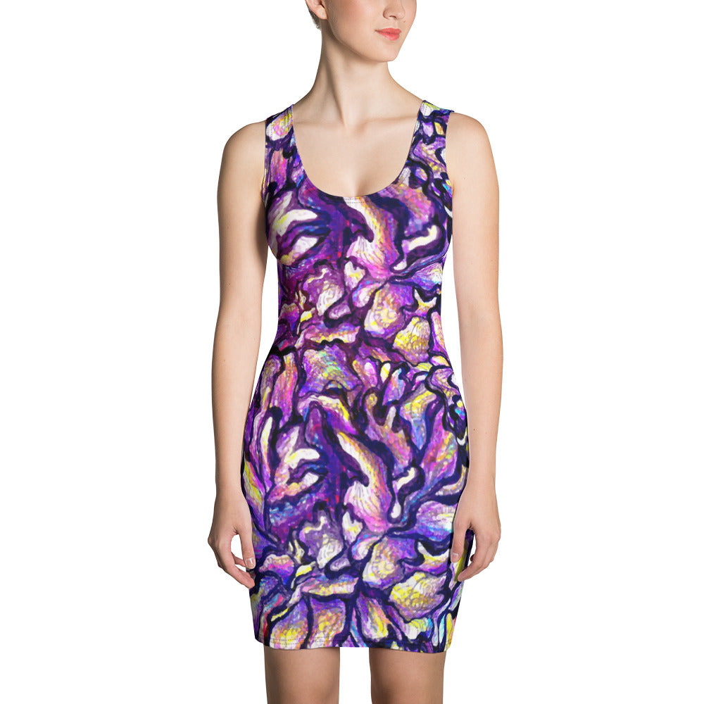 Purple Skin Sublimation Cut & Sew Dress - ZBAZAAR