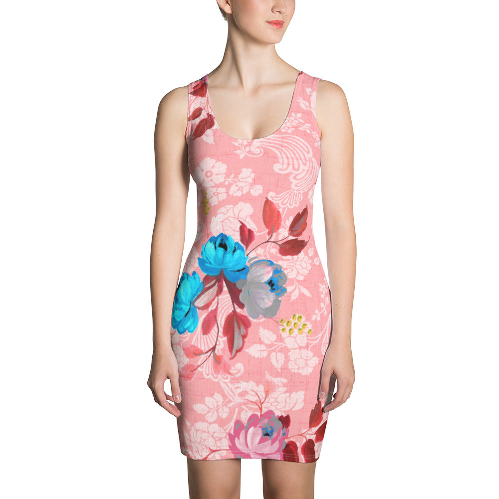 Pinkish Yoga Sublimation Cut & Sew Dress - ZBAZAAR