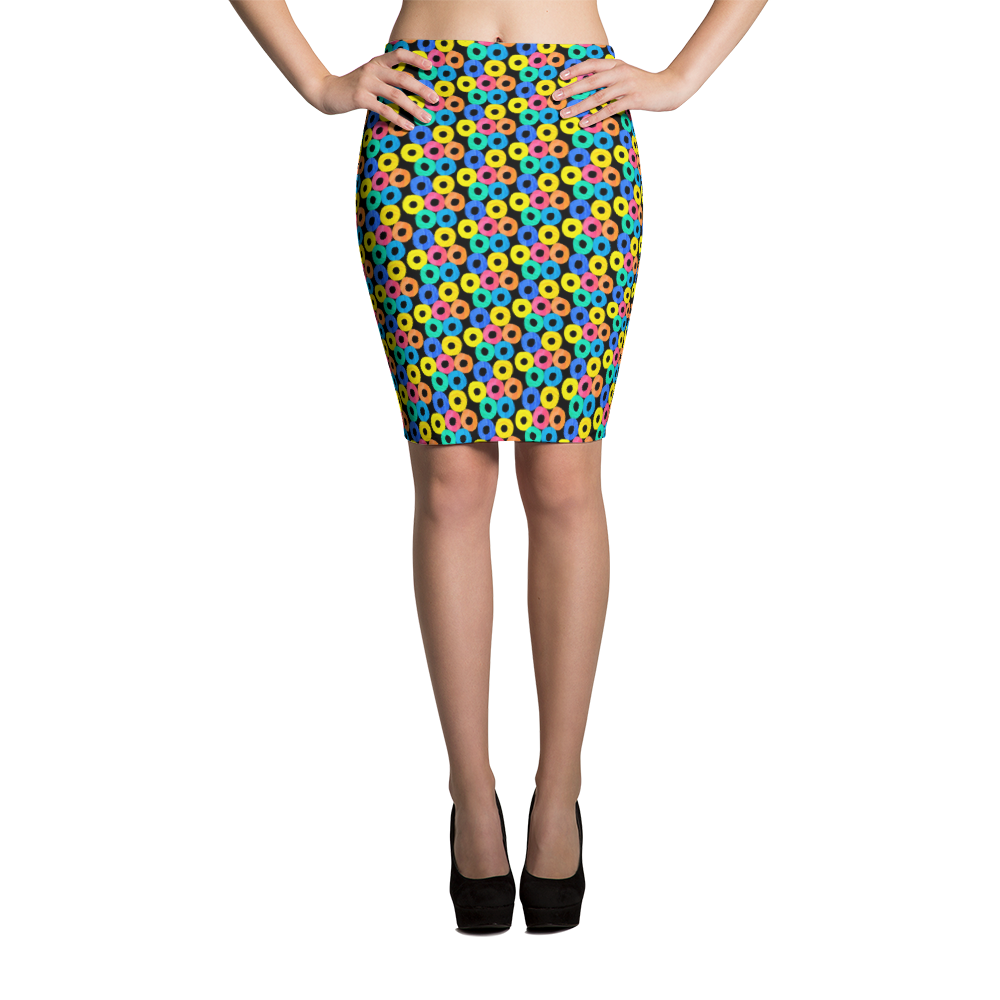 Pencil Skirt / Fruit Loops - ZBAZAAR