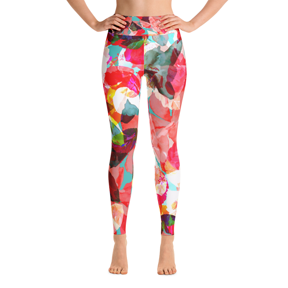 Yoga Leggings / Joyful Spring - ZBAZAAR
