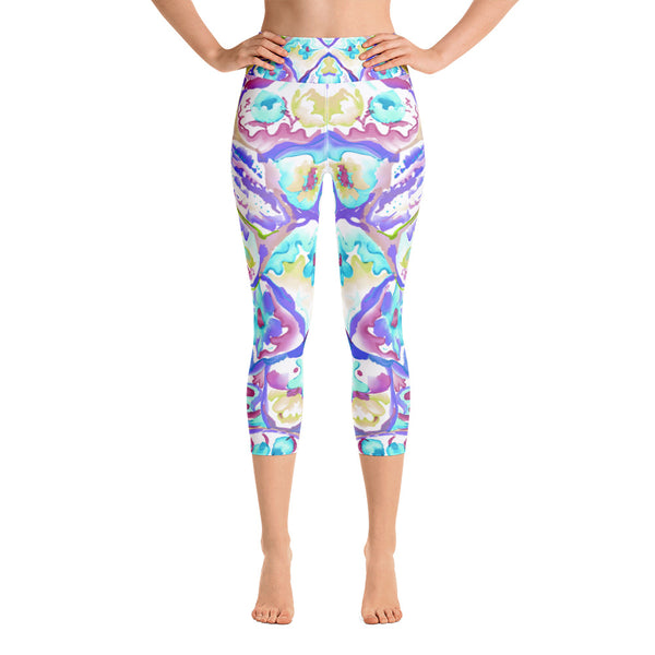 Colorful Cells Yoga Capri Legging - ZBAZAAR