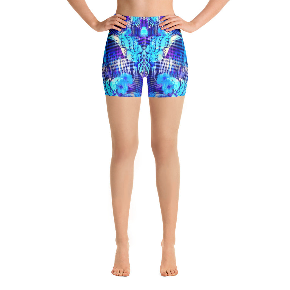 Blue Butterfly Yoga Short - ZBAZAAR