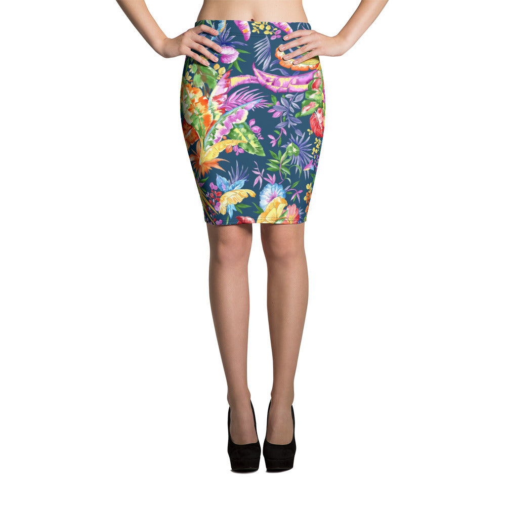 Heavens Blue Pencil Skirt - ZBAZAAR