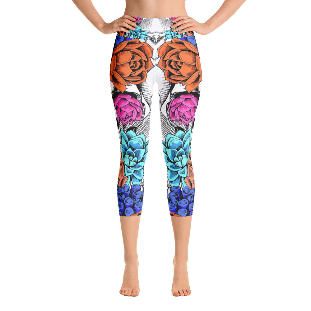 Danger Flower Yoga Capri Legging - ZBAZAAR