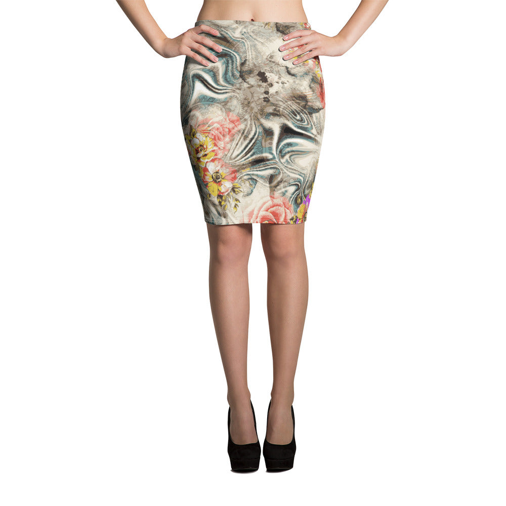 Clear Mind Pencil Skirt - ZBAZAAR
