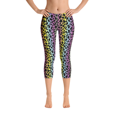 Capri Leggings / Rainbow Cheetah