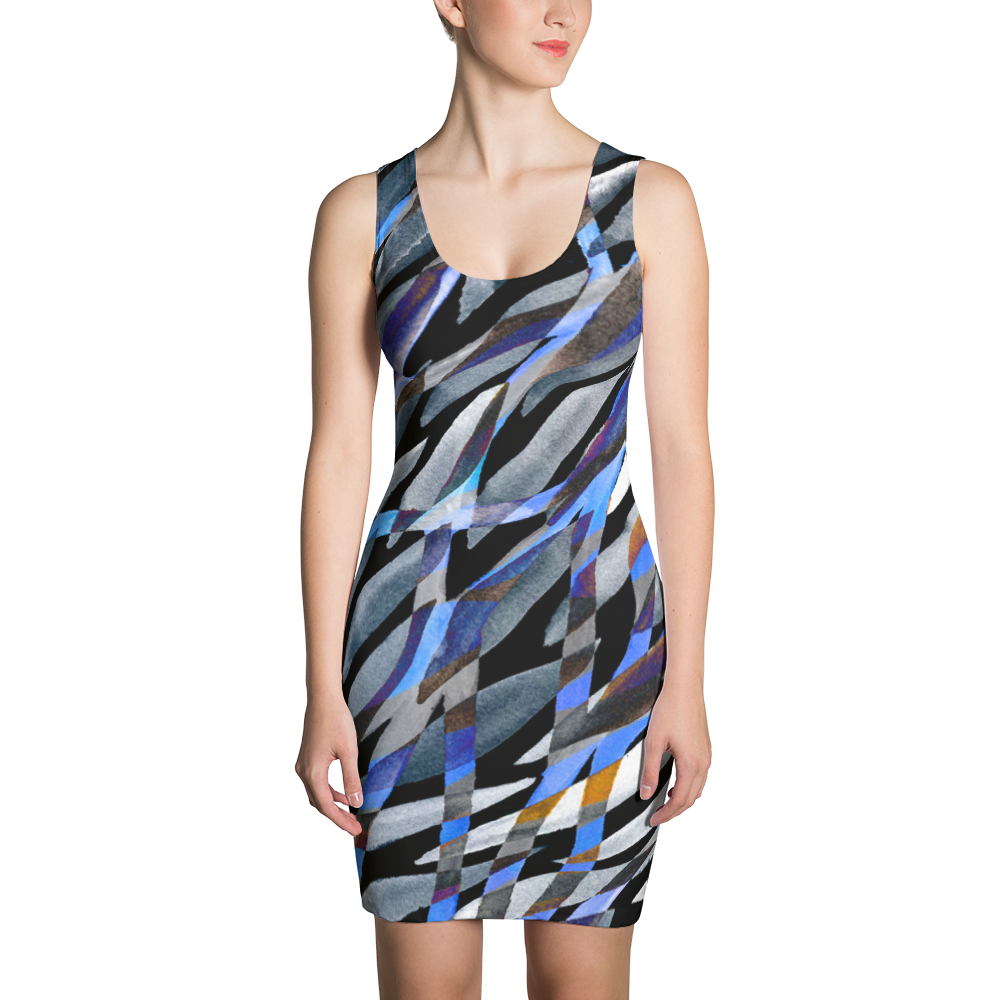 Sublimation Cut & Sew Dress / Dark Rainstorm - ZBAZAAR