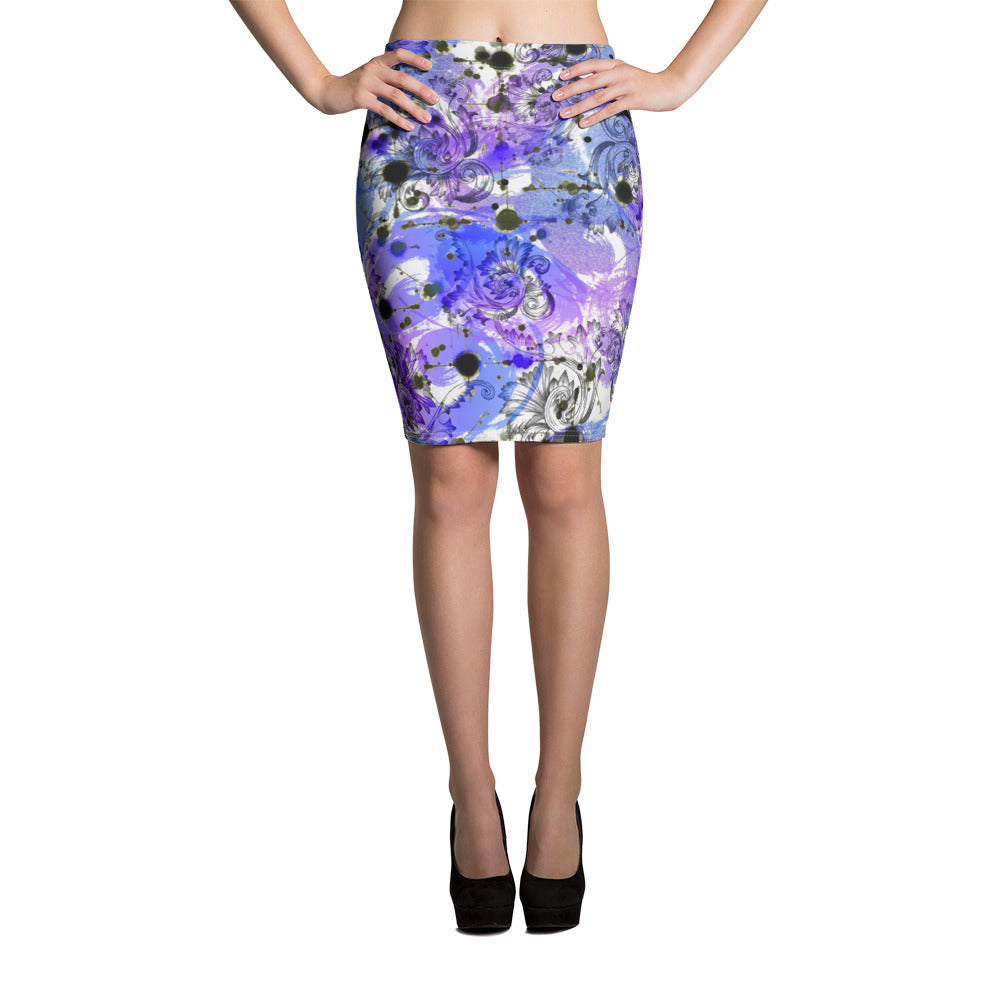 Mystery Purple Pencil Skirt - ZBAZAAR
