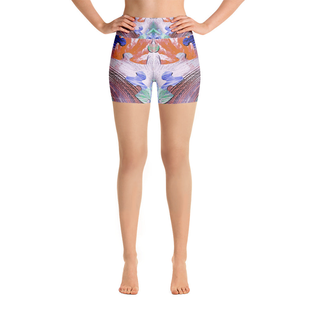 Colorful Puzzle Yoga Short - ZBAZAAR