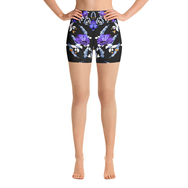 Black Garden Yoga Short - ZBAZAAR