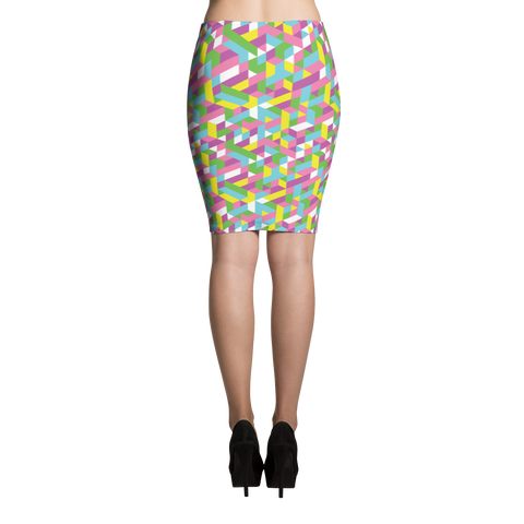 Pencil Skirt / Pastel City
