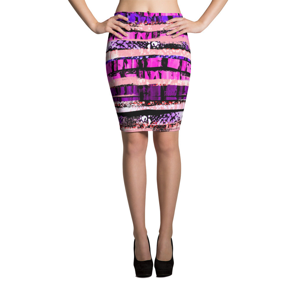 Layers of Beauty Pencil Skirt - ZBAZAAR