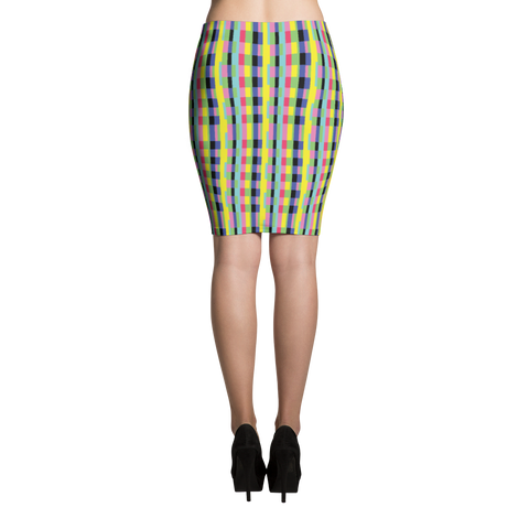 Pencil Skirt / Rainbow Blocks