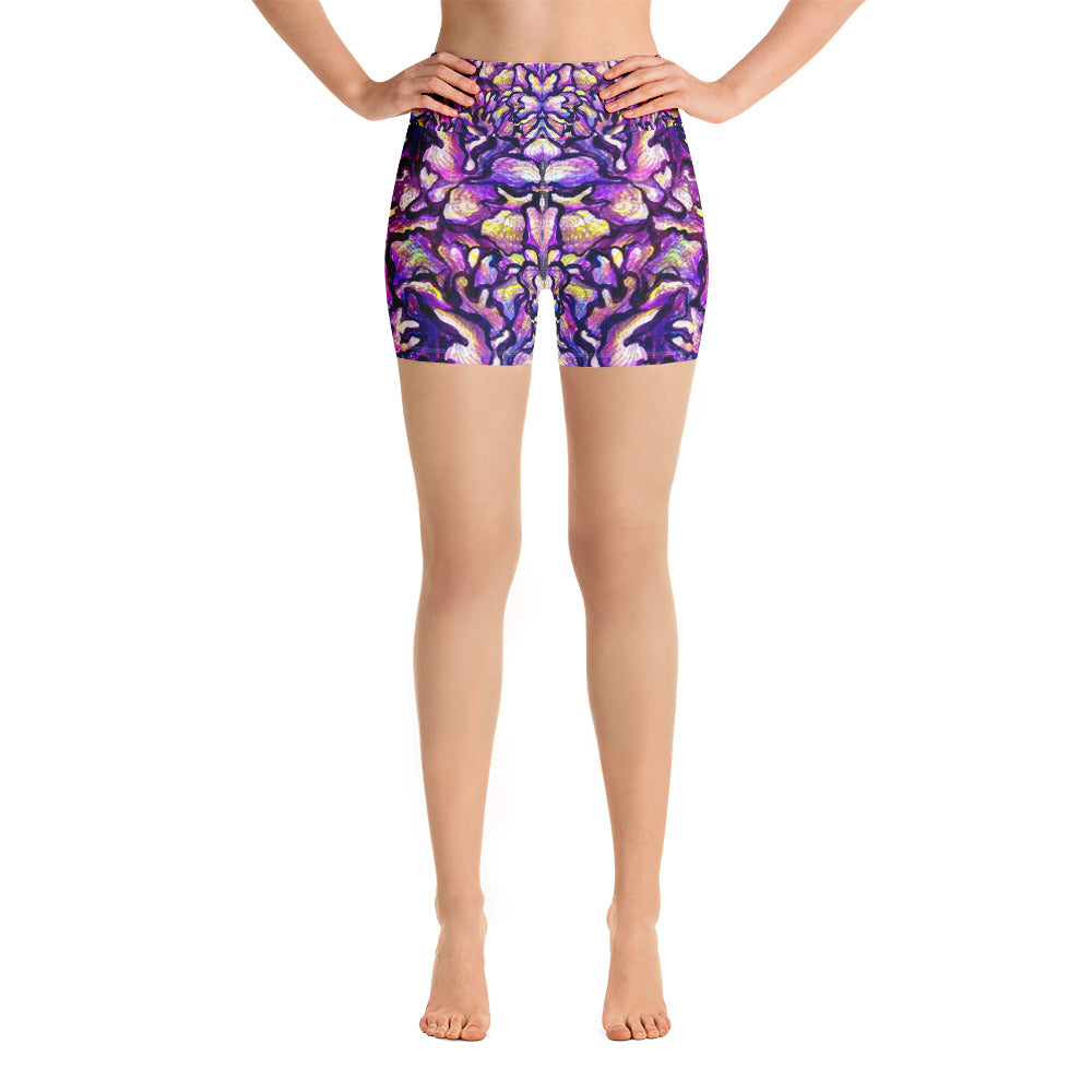Purple Skin Yoga Short - ZBAZAAR