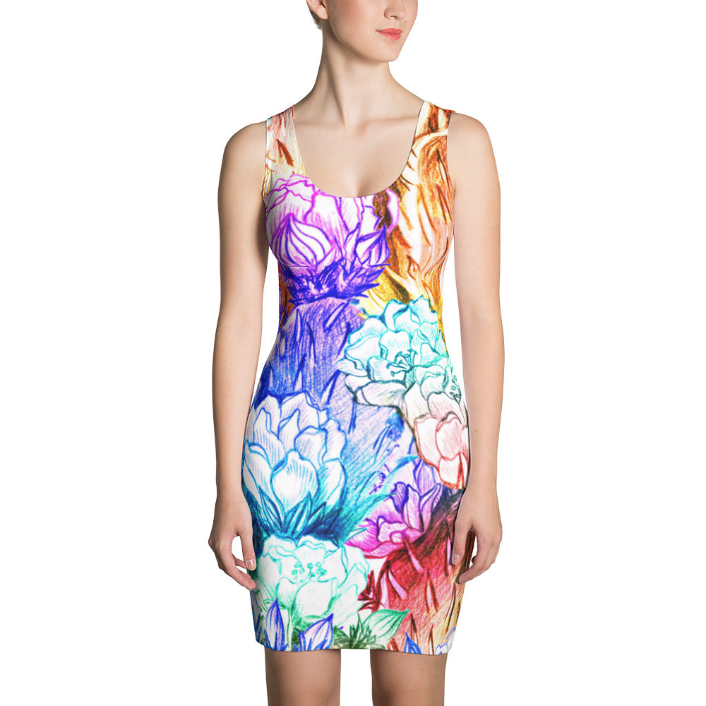 Sharp Colors Sublimation Cut & Sew Dress - ZBAZAAR