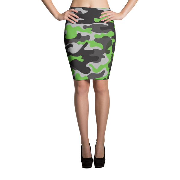 Pencil Skirt / Green Camo - ZBAZAAR