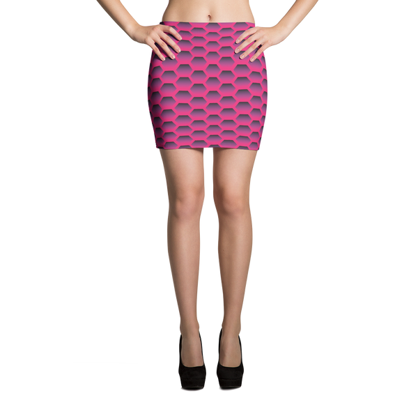 Mini Skirt / Magenta Honeycom - ZBAZAAR