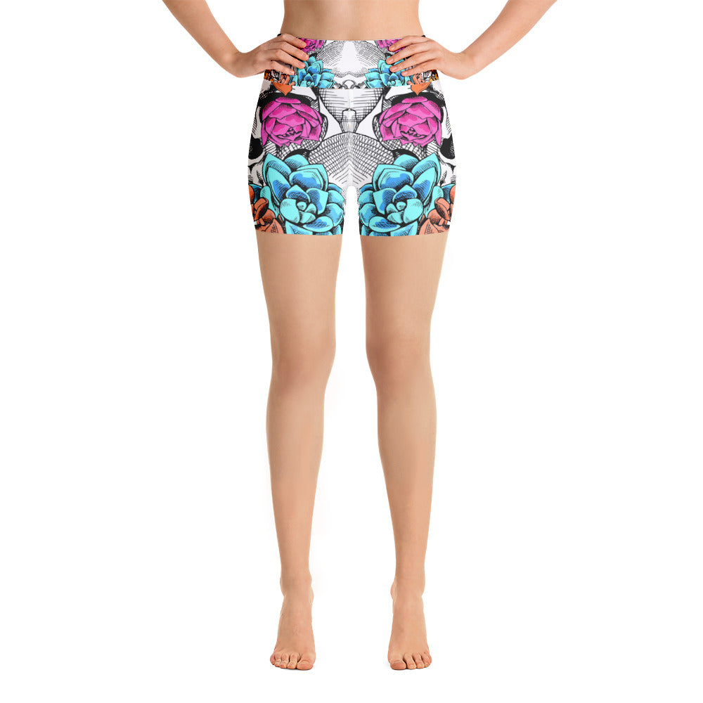 Danger Flower Yoga Short - ZBAZAAR