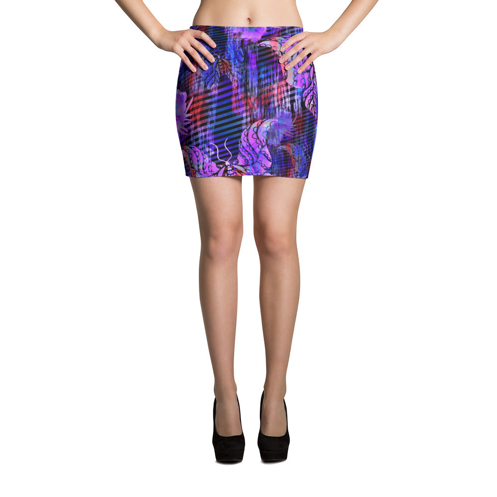 Indigo Beauty Mini Skirt - ZBAZAAR