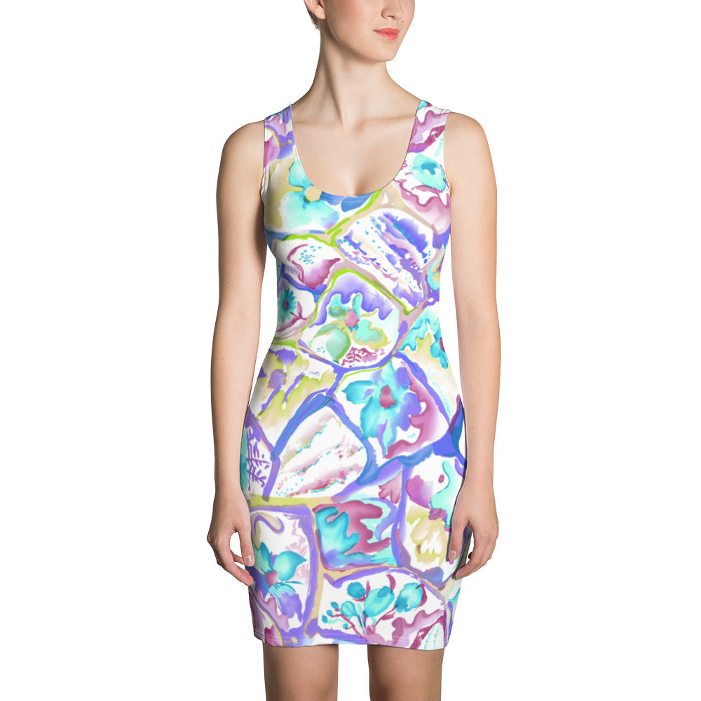 Colorful Cells Sublimation Cut & Sew Dress - ZBAZAAR