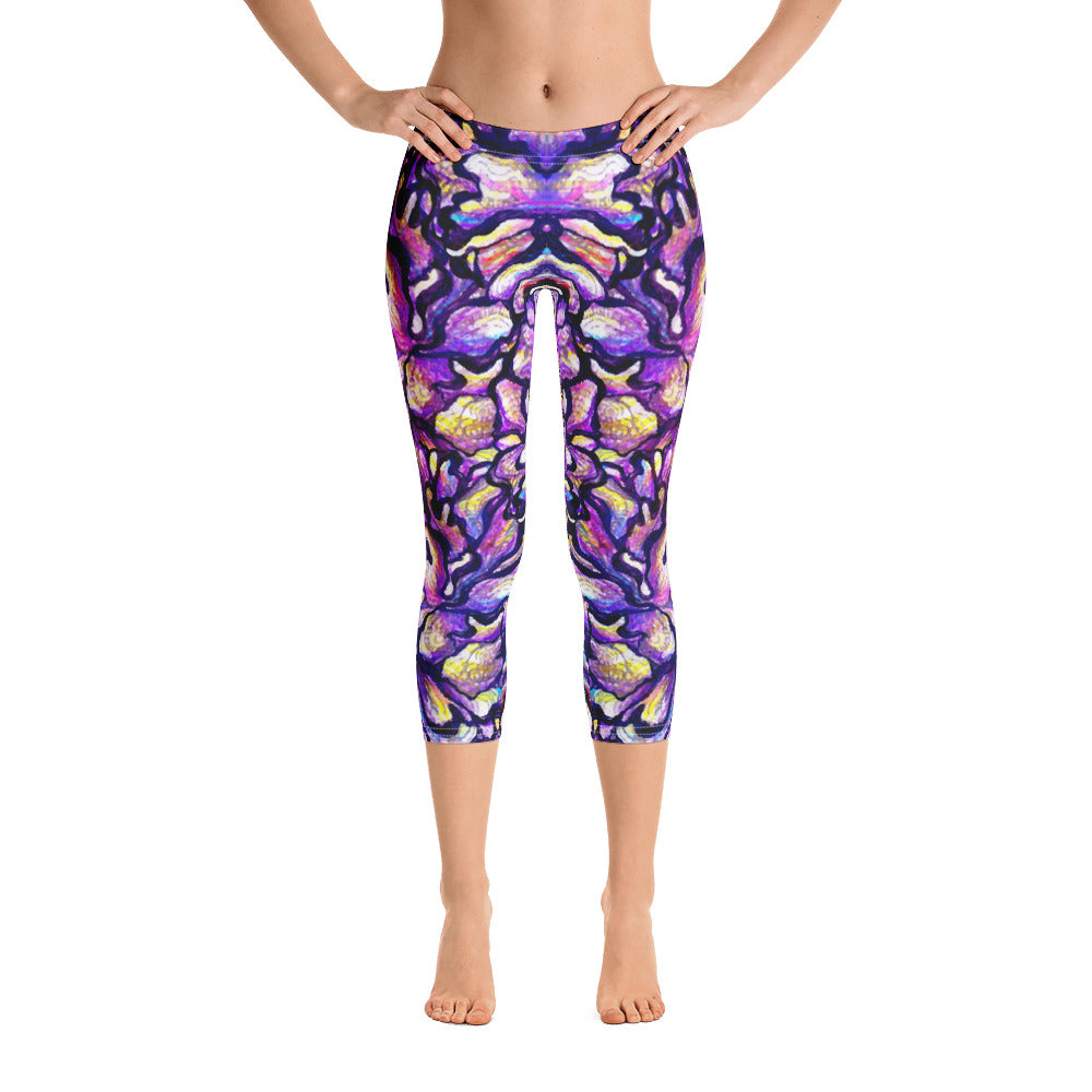 Purple Skin Capri Legging - ZBAZAAR