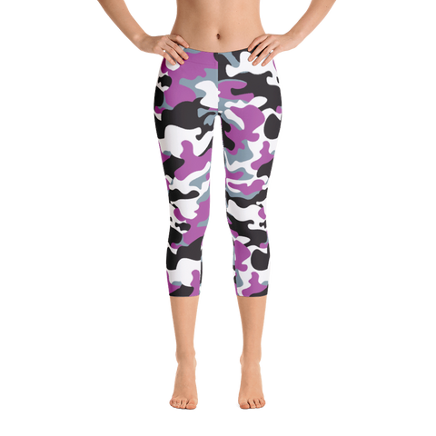 Capri Leggings / Purple Camo