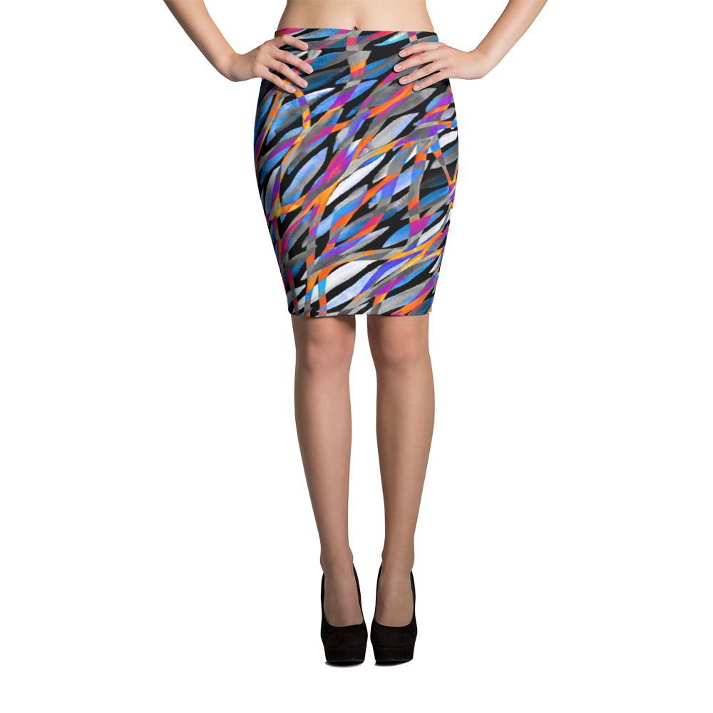 Pencil Skirt / Tropical Fusion - ZBAZAAR