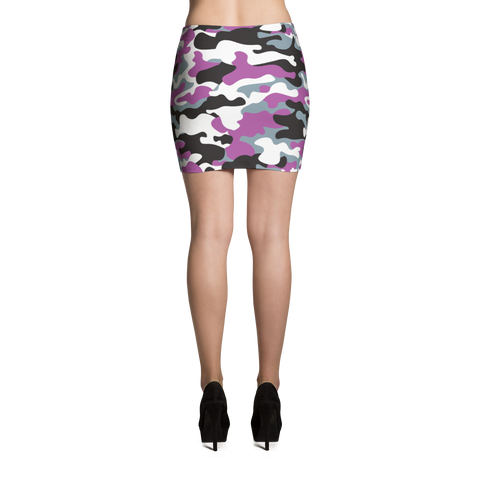 Mini Skirt / Purple Camo