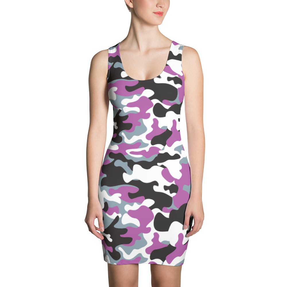 Purple Camo Sublimation Cut & Sew Dress - ZBAZAAR