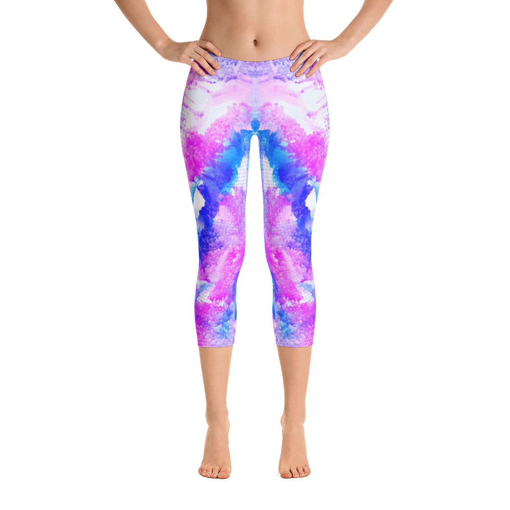 Happy Mixture Capri Legging - ZBAZAAR