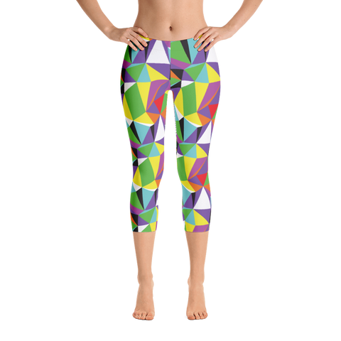 Capri Leggings / Rainbow Geometry