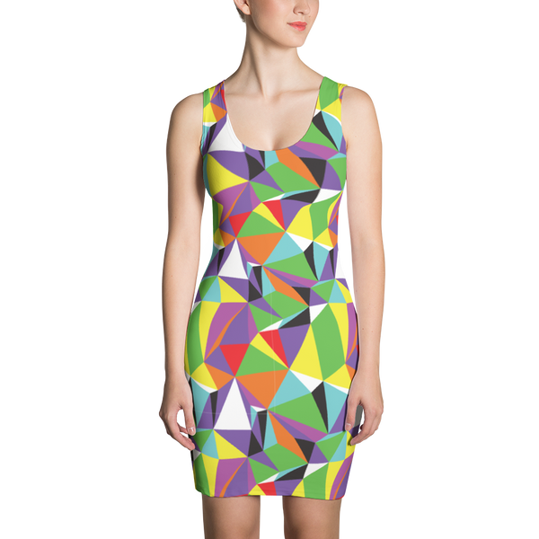 Sublimation Cut & Sew Dress / Rainbow Geometry - ZBAZAAR