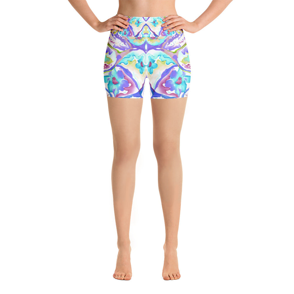 Colorful Cells Yoga Short - ZBAZAAR