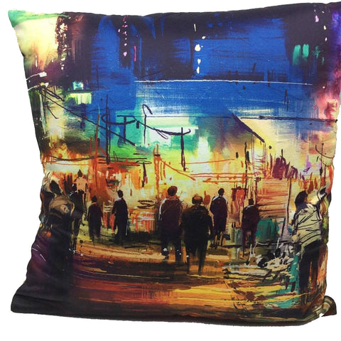 Throw Pillow Case Cover Night in Paris