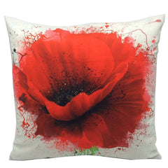 Throw Pillow Case Cover Splash Rose - ZBAZAAR