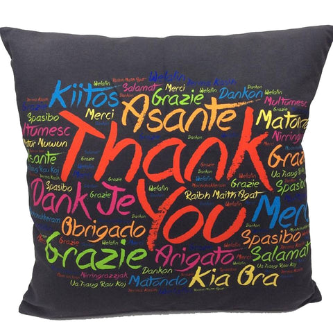 Throw Pillow Case Cover Thank you International