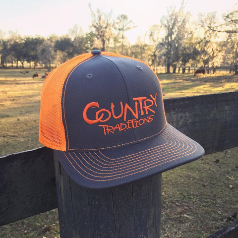 Country Traditions Trucker Hat - Orange