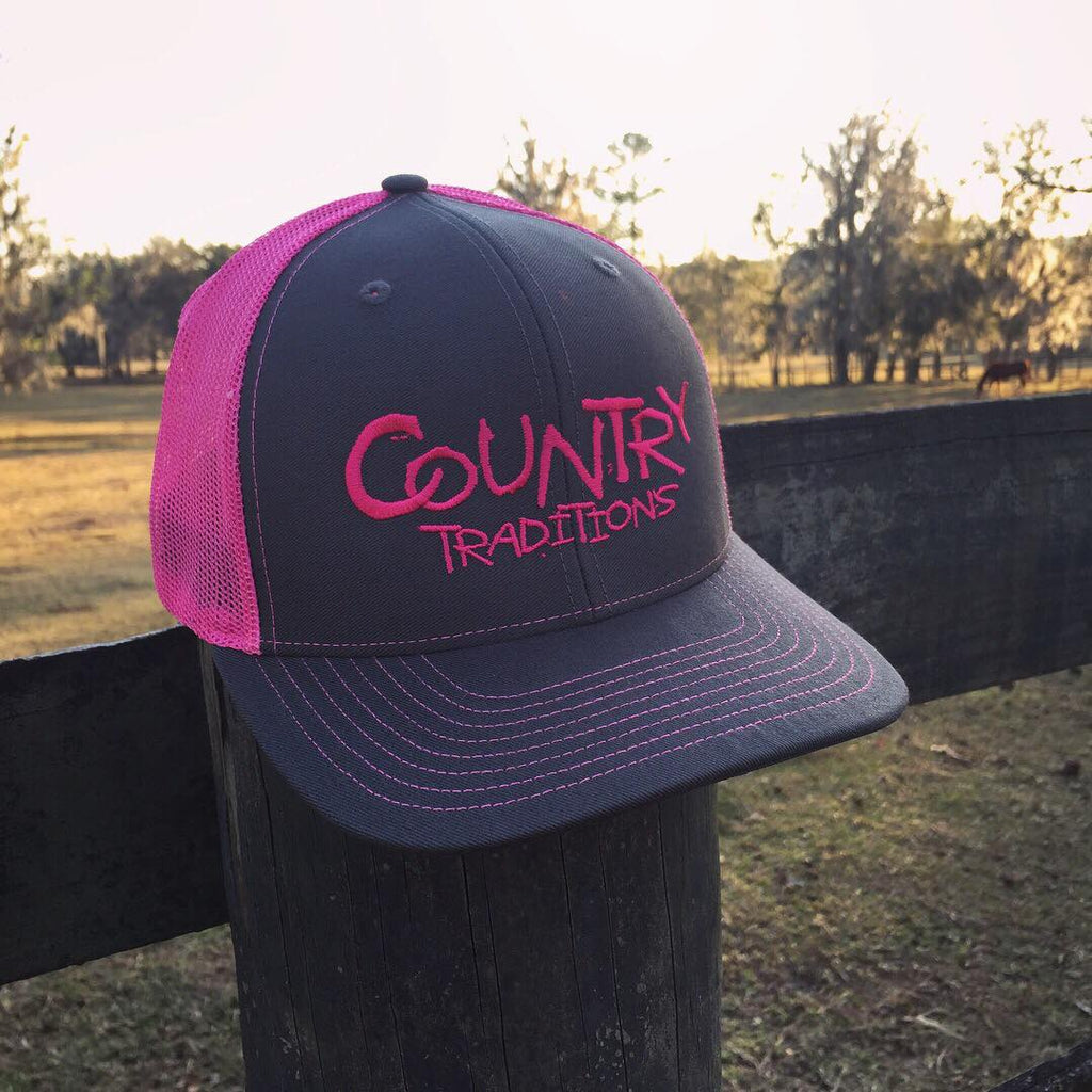 Country Traditions Trucker Hat - Pink