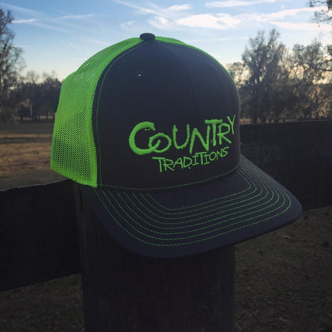 Country Traditions Trucker Hat - Neon Yellow