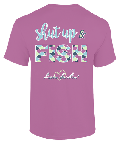 Shut Up & Fish Tee - Orchid